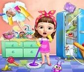 Tatlı Kızın Ev Temizliği